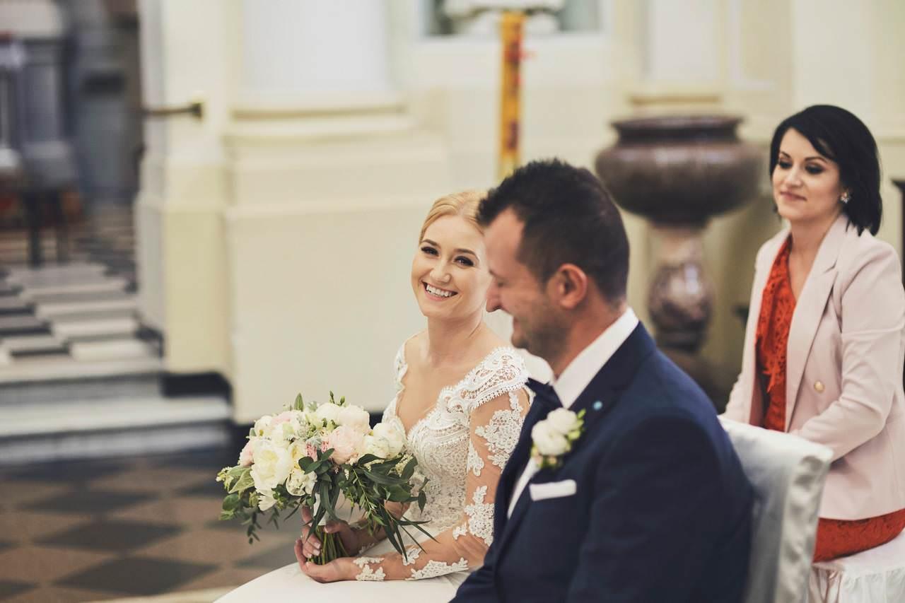 ślub kościół św. Anny Warszawa Wilanów