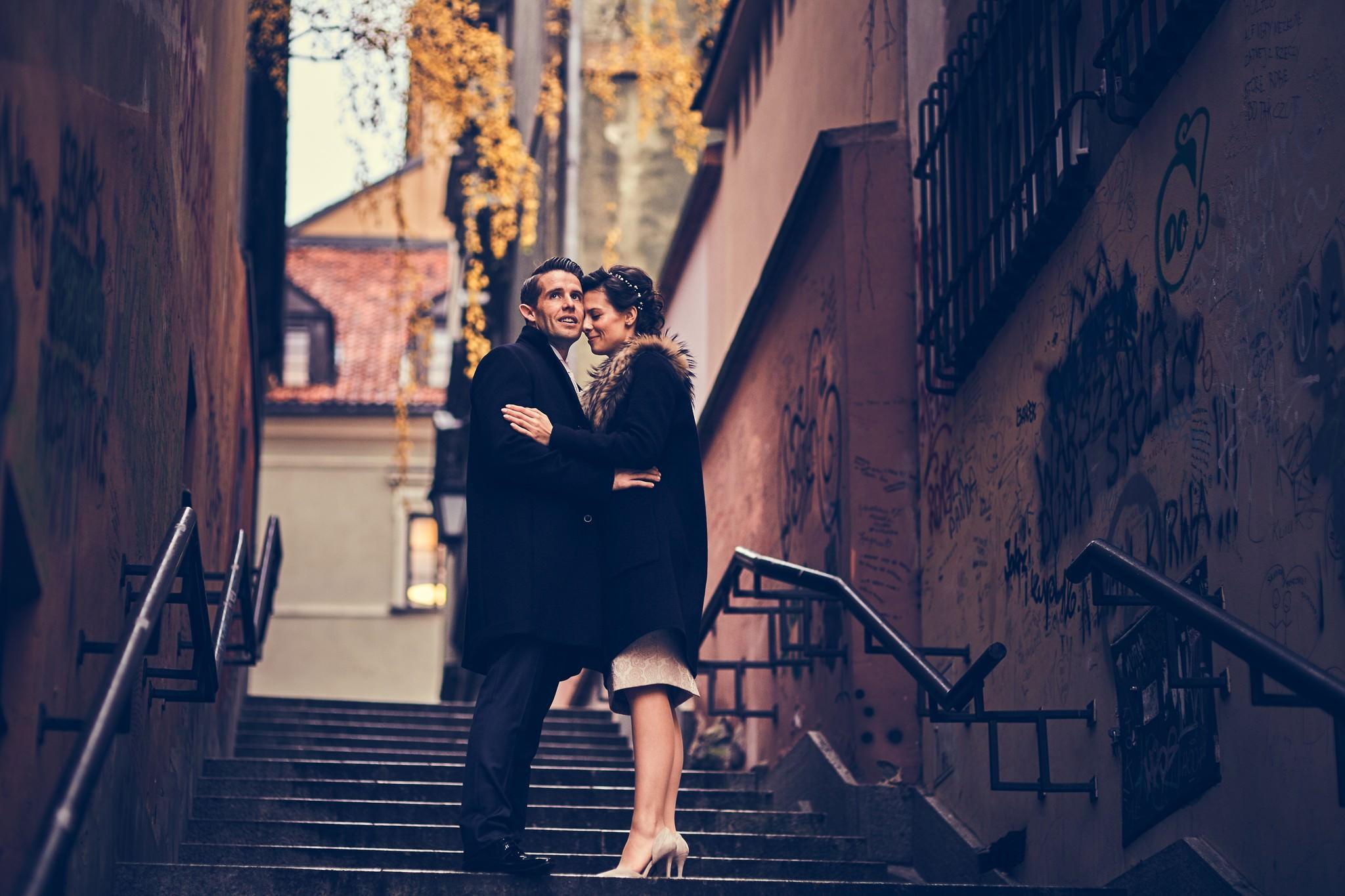 sesja ślubna na Starym Mieście w Warszawie