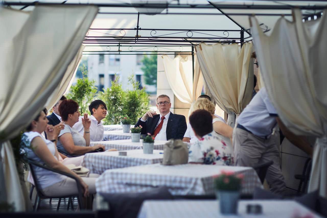 Sylwia i Damian - ślub w Wilanowie - restauracja Vilanova 100