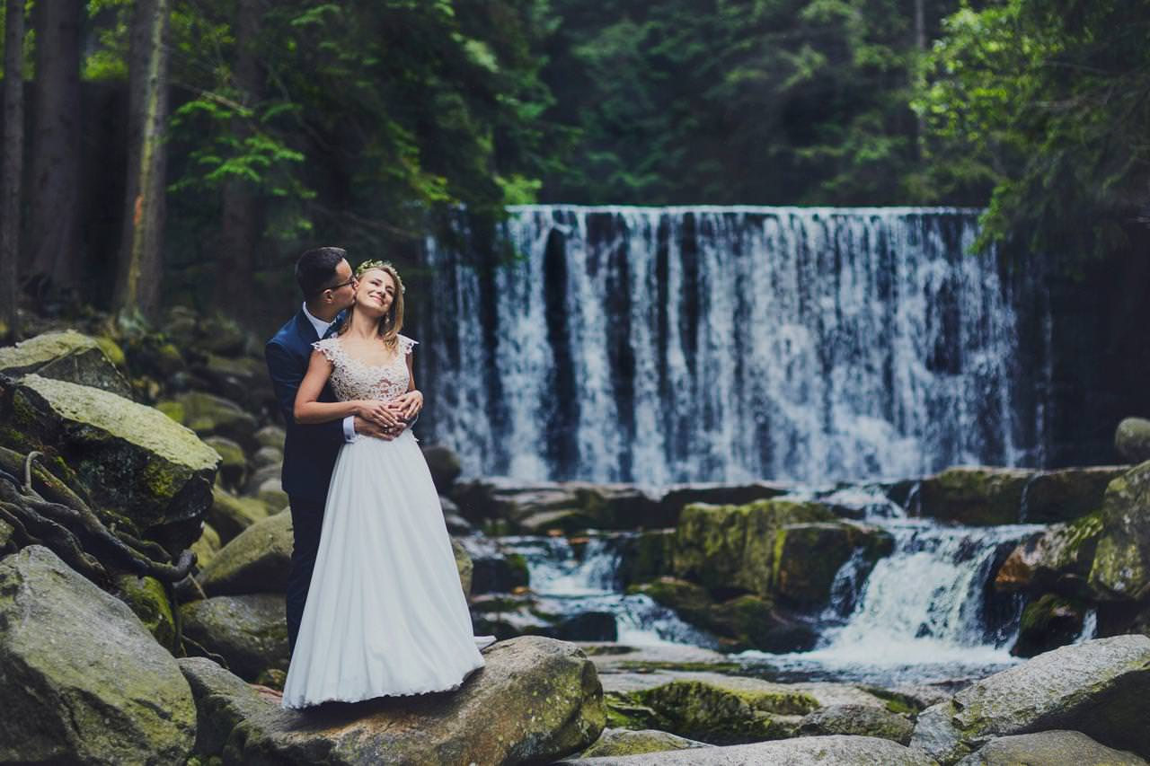Sesja ślubna przy Dzikim Wodospadzie 79